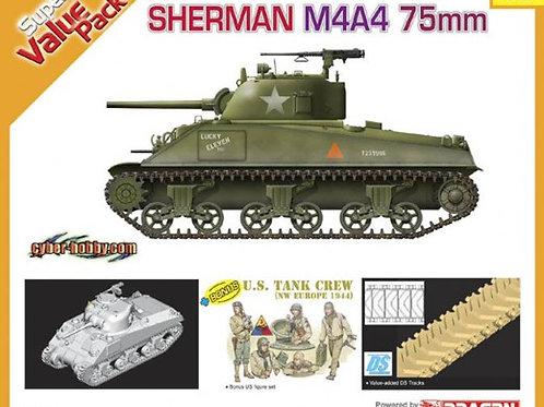 Американский Шерман M4A4 Sherman 75mm - Dragon / Cyber Hobby 9102 1:35 +фигурки