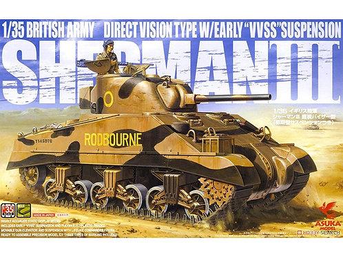 (под заказ) Sherman III direct vision type, early VVSS - Asuka 35017 1:35