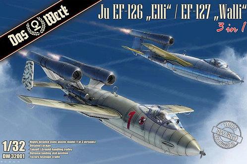 (под заказ) Junkers Ju EF-126/127 (3 в 1) - DAS WERK 1:32 DW32001