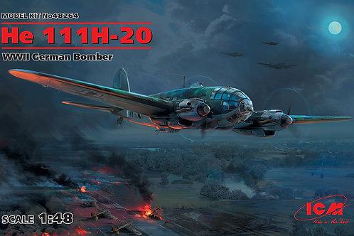 ICM 48264 1/48 Немецкий бомбардировщик He-111 H-20