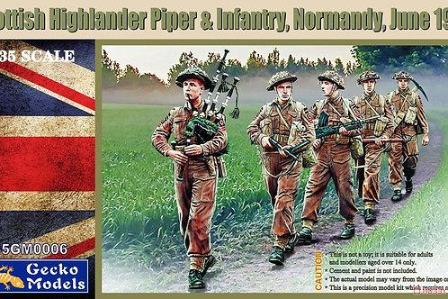 (под заказ) Scottish Highlander Piper & Infantrie Normandy 1944 - Gecko 35GM0006