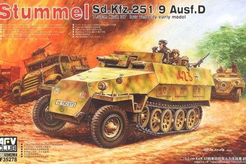 (под заказ) Sd.Kfz. 251/9 Ausf. D Stummel с 75-мм пушкой- AFV Club AF35278 1/35