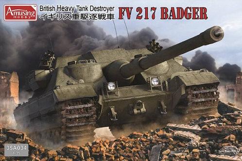 (под заказ) Британская самоходка FV217 Badger - Amusing Hobby 35A034 1/35