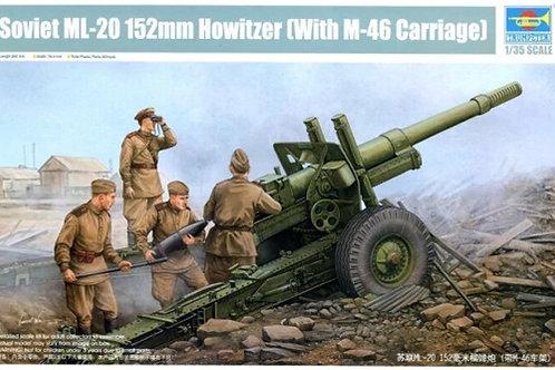 152-мм гаубица-пушка образца 1937 года МЛ-20 на лафете М-46 Trumpeter 02324 1:35