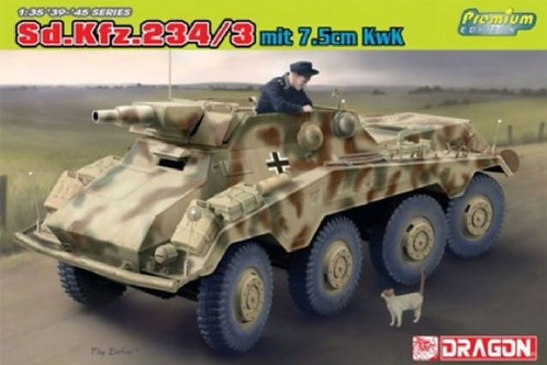Немецкий броневик Sd.Kfz.234/3 с 75-мм пушкой - Dragon 6786 1/35