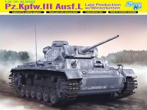 (под заказ) Pz.Kpfw.III Ausf.L Late Production w/Winterketten - Dragon 6387 1:35