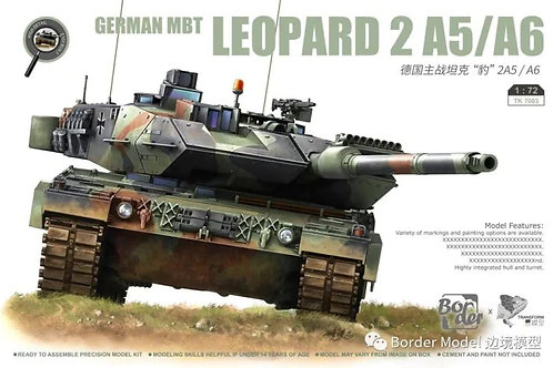 (предзаказ) German MBT Leopard 2A5/A6 - Border Model 1:72 TK-7001