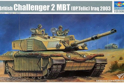 (под заказ) British Challenger 2 MBT (Op.Telic) Iraq 2003 - Trumpeter 1:35 00323