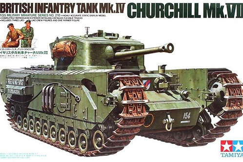 35210 Tamiya 1/35 Английский танк Черчилль Mk.IV Churchill Mk.VII + фигурки