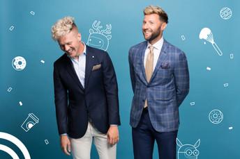 Matt & Simon founders for Doughtnut Party
