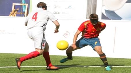 La selección española de fútbol para ciegos busca plaza paralímpica en el Europeo de Roma