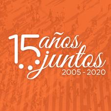 Logo 15 Años Juntos