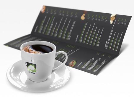 Логотип и фирменный стиль для сети кофеен Nook Coffee