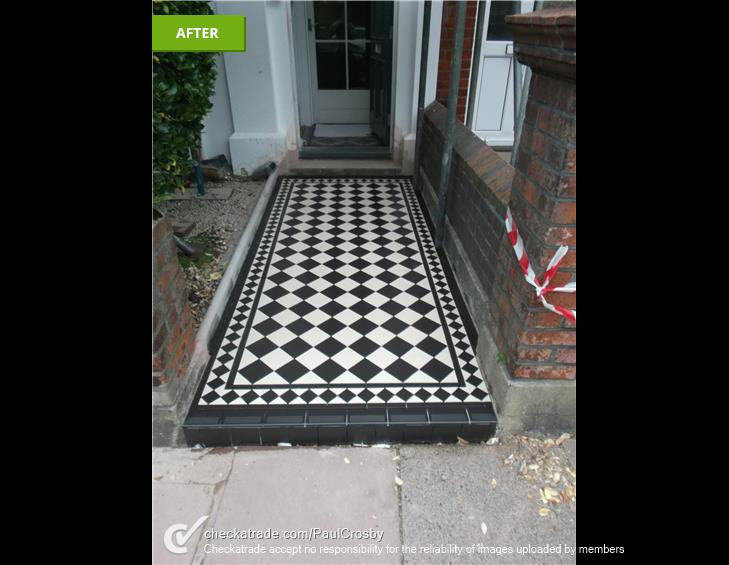 PHOTO OF A TILED VICTORIAN PATHWAY