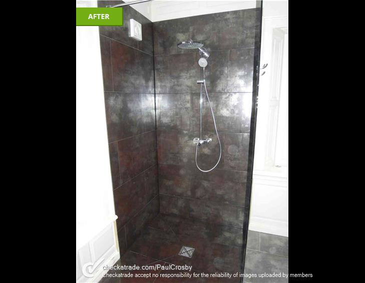 PHOTO OF A COMPLETED WET ROOM REFIT