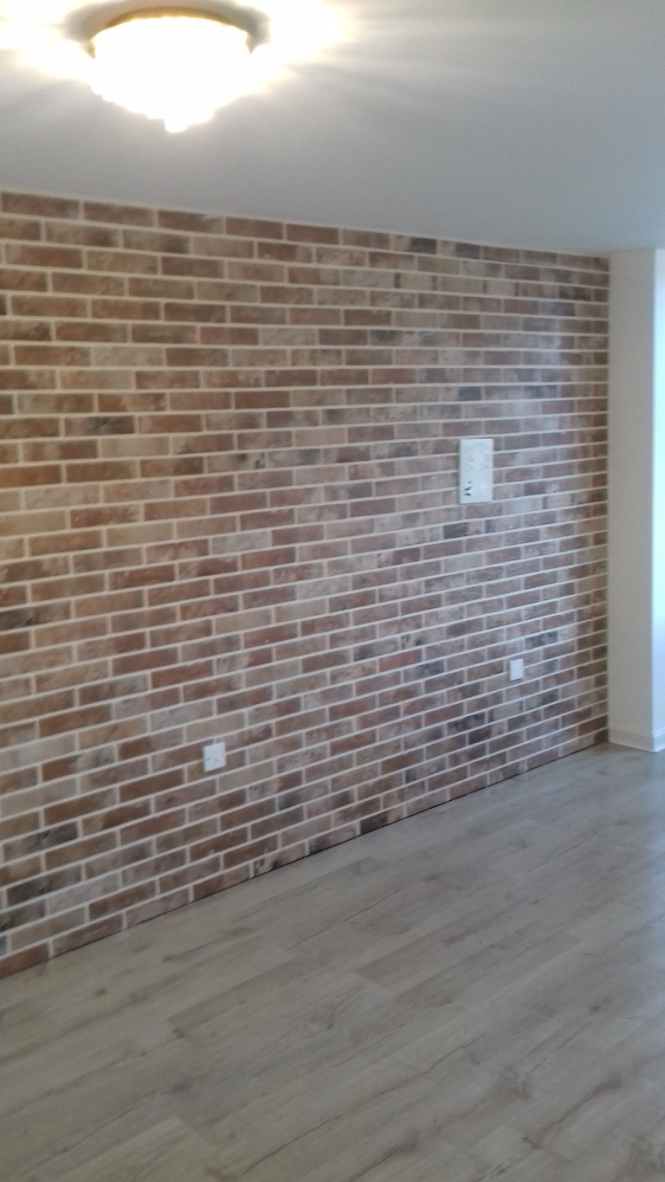 Feature Wall Tiled In Brick Tiles