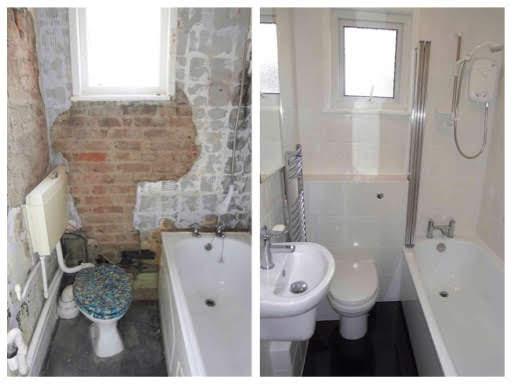 Before & After Photos Bathroom Refit.