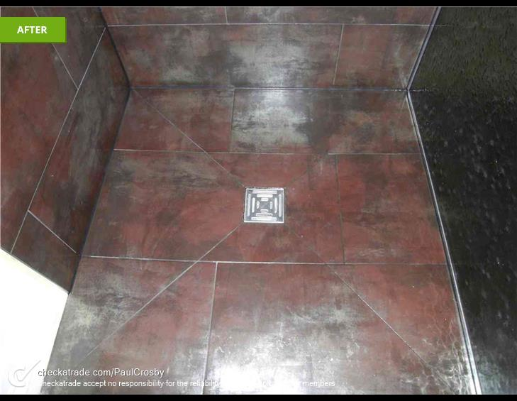 PHOTO OF A COMPLETED WET ROOM FLOOR