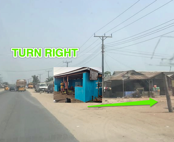 Bus Stop Right Turn