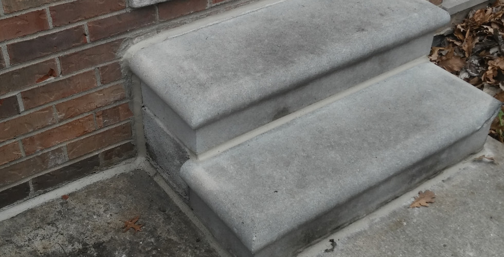 Sealing of Concrete Steps
