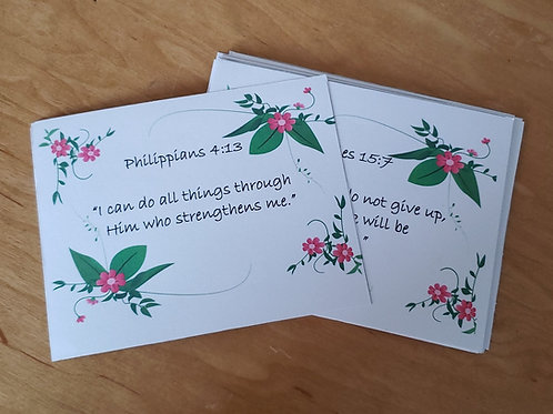 Flower Themed Birth Affirmation Cards