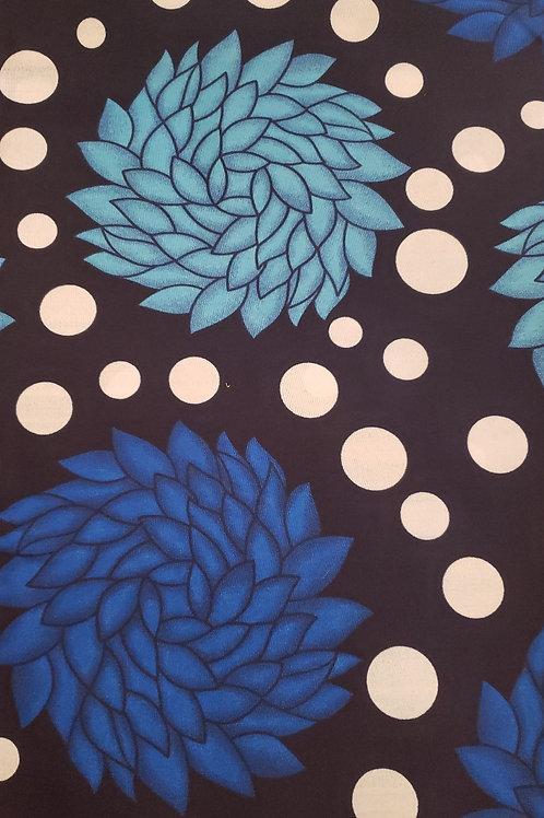 Blue Polka Dot Peonies Infant Scale Sling