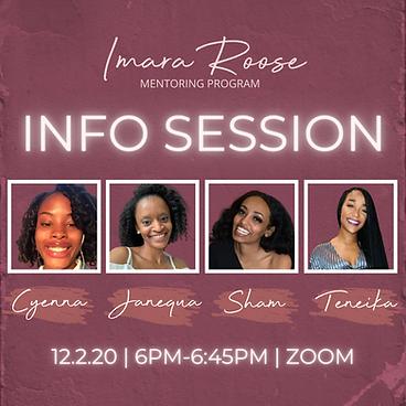 Imara Roose | Info Session | 12.2.20