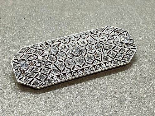 Broche Art Déco en or et diamants