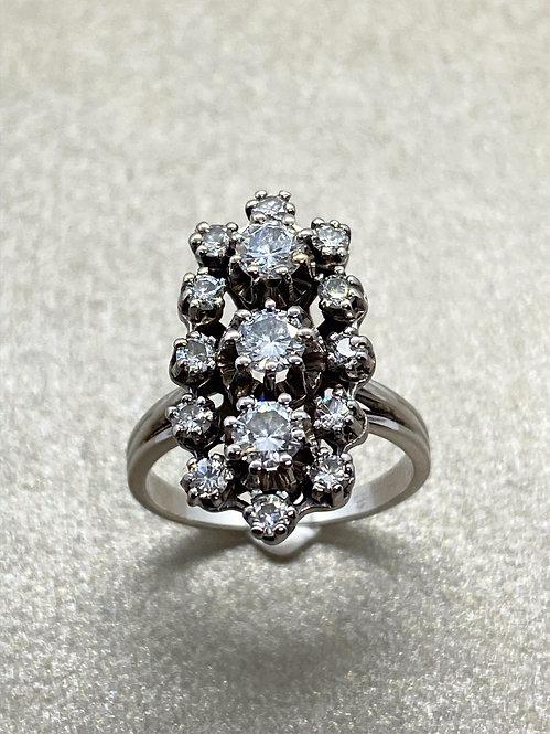 Bague Art Déco 1930 en or et diamants