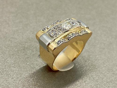 Bague Art Déco en or et diamants