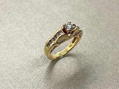 Bague Art Déco en or, platine et diamants