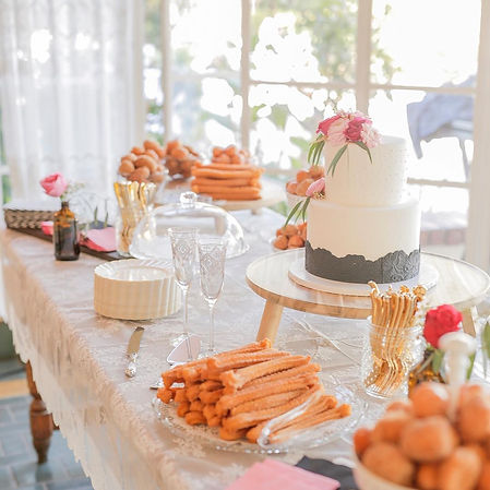 wedding catering birthday donut cake wall