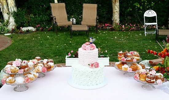 wedding catering birthday donut cake wall