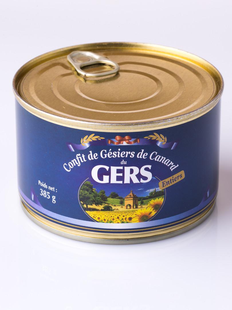 Confit de gésiers canard du gers