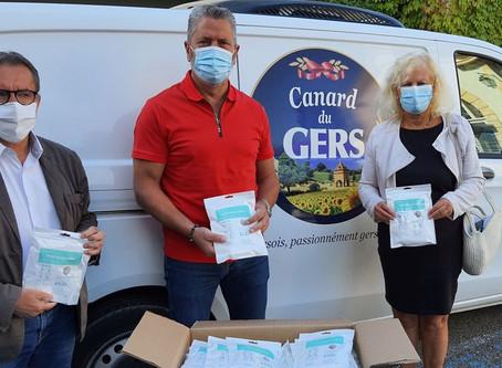 Gers Distribution à Nogaro : don de masques aux collectivités et soutien de l'AAN