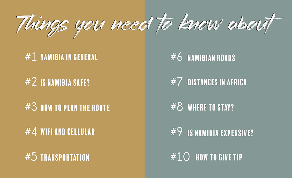 Is Namibia safe? Tips for transportation? Is Namibia expensive? Where to stay?