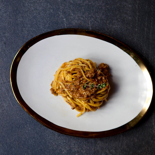 Pack Spaghetti alla Chitarra con Ragú de Cordero para 4 personas