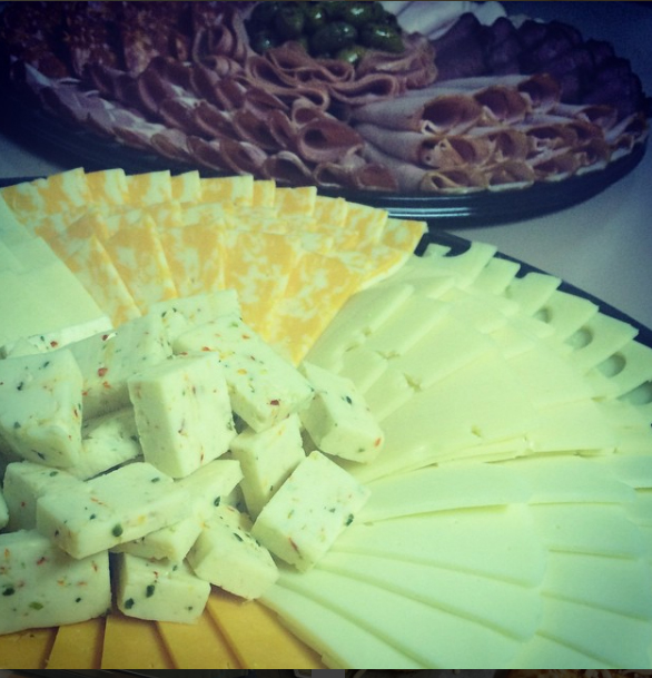cheese and meat platters