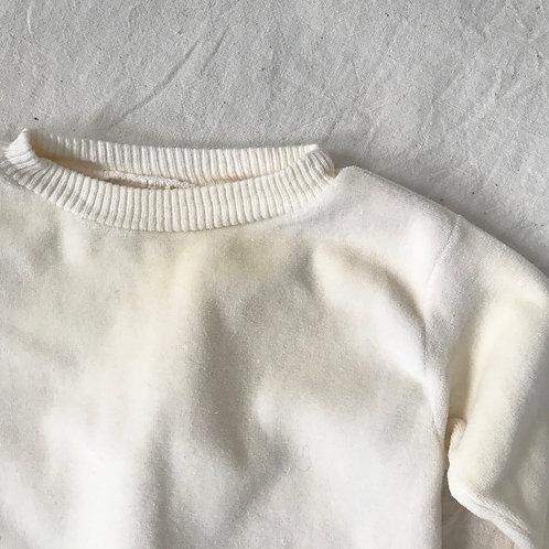 Ivory Velour Sweatshirt
