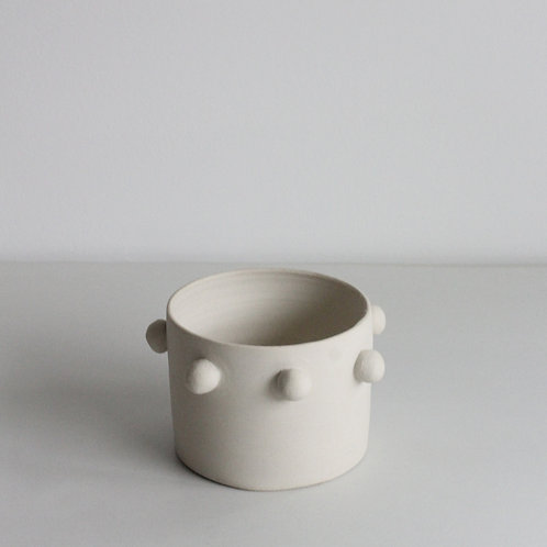 White Dotted Planter