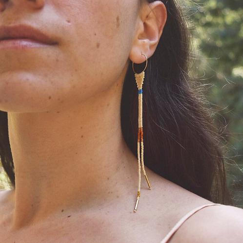 Orbit Earrings in Bone