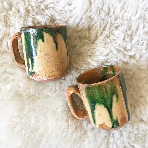 Vintage Drippy Paint Mugs