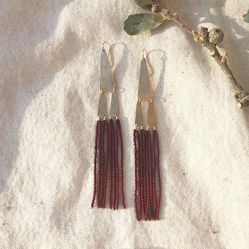 Temple Earrings in Manzanita Red