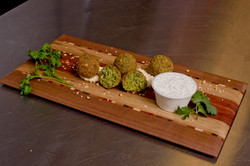 Falafels with Herb Yogurt