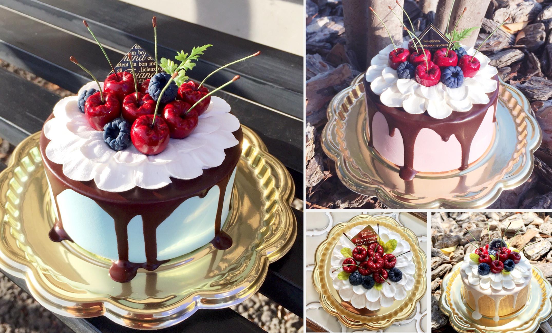 好きなお色で作れるドリップケーキ