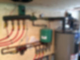 In-floor hydronic heating install
