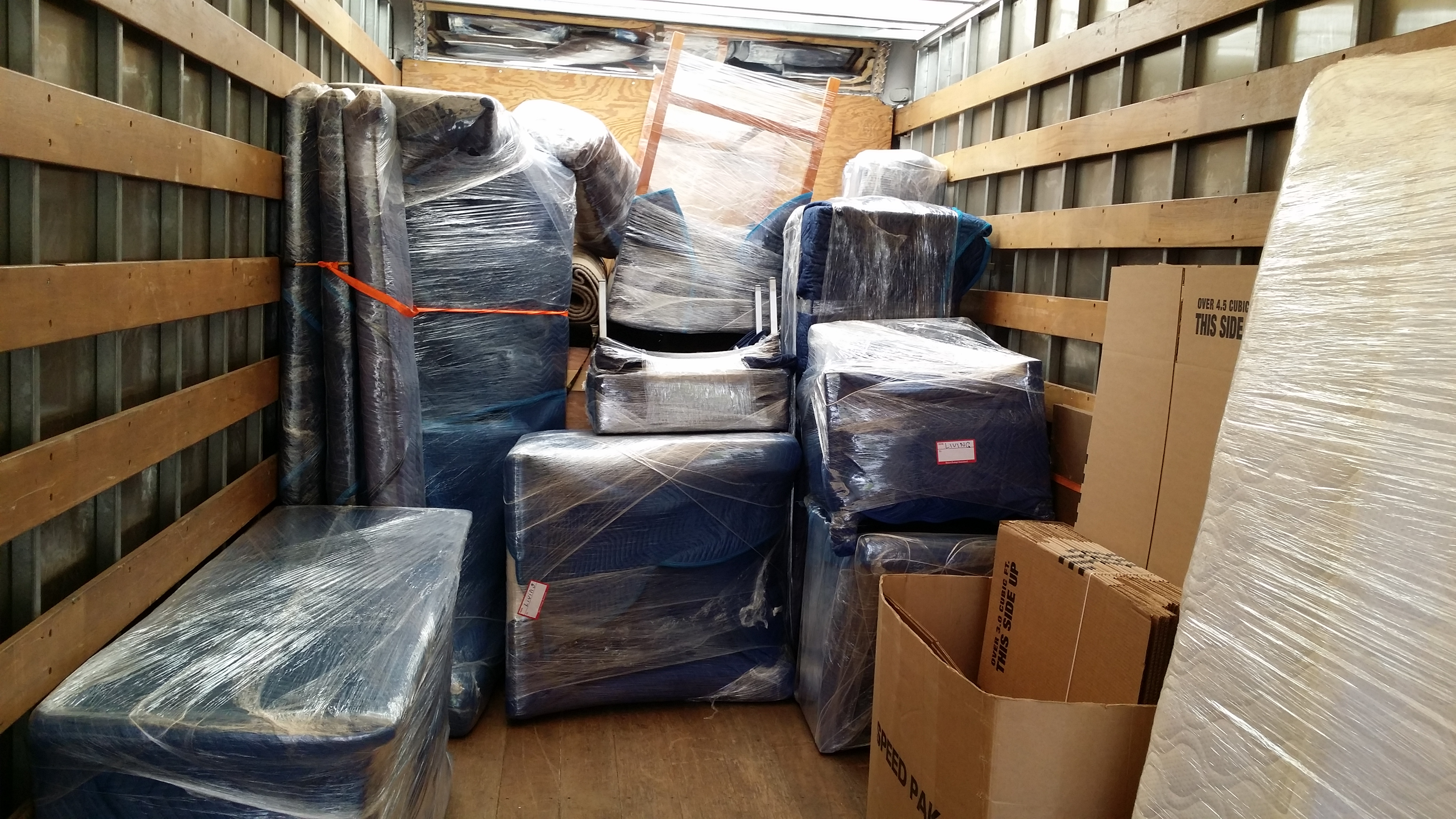 Wrapped Furniture in the Truck - Copy