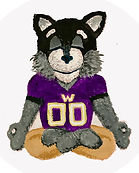 UW Meditating Mascots - White Background