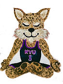 NYU Meditating Mascots - White Backgroun