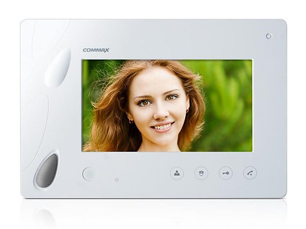 "CDV-70P BEYAZ - COMMAX RENKLİ 7"" FULL LED LCD HANDSFREE MONİTÖR"